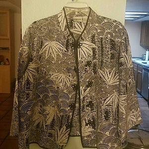 Chicos silk jacket size 3